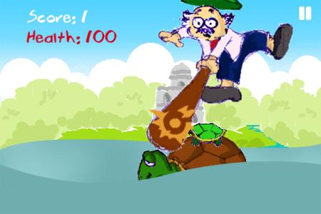 Hình ảnh game được vẽ bởi một học sinh lớp 5.