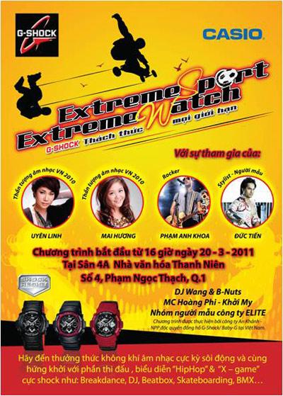 Mai Hương và Uyên Linh cùng góp mặt trong ngày hội G-Shock