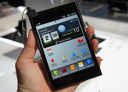 LG Optimous Vu với tỷ lệ màn hình 4:3.