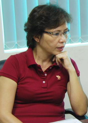 Bác sĩ Nguyễn Thị Hoa tại tòa soạn VnExpress.net.